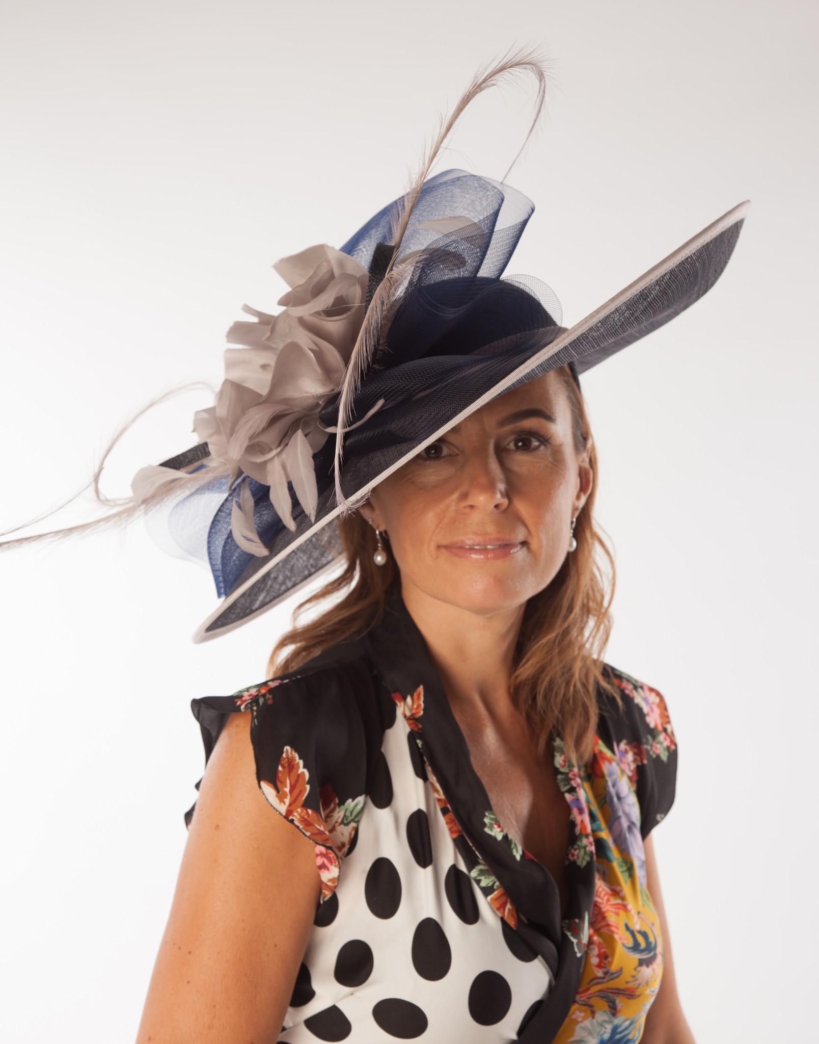 a08a249469108 Snoxell Gwyther - Occasion Hat (Navy/taupe) - Statement Pieces ...