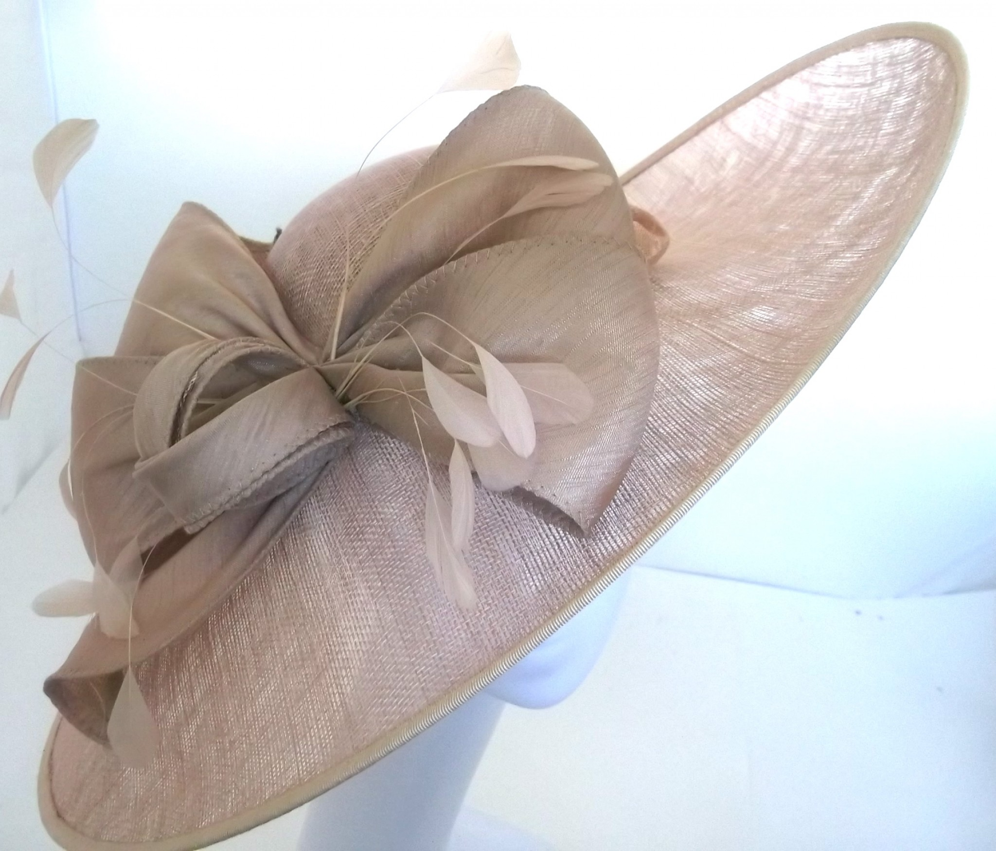 717b80dc77e2d Snoxell Gwyther - Occasion Hat (Champagne) - Occasion Hats | Wedding ...