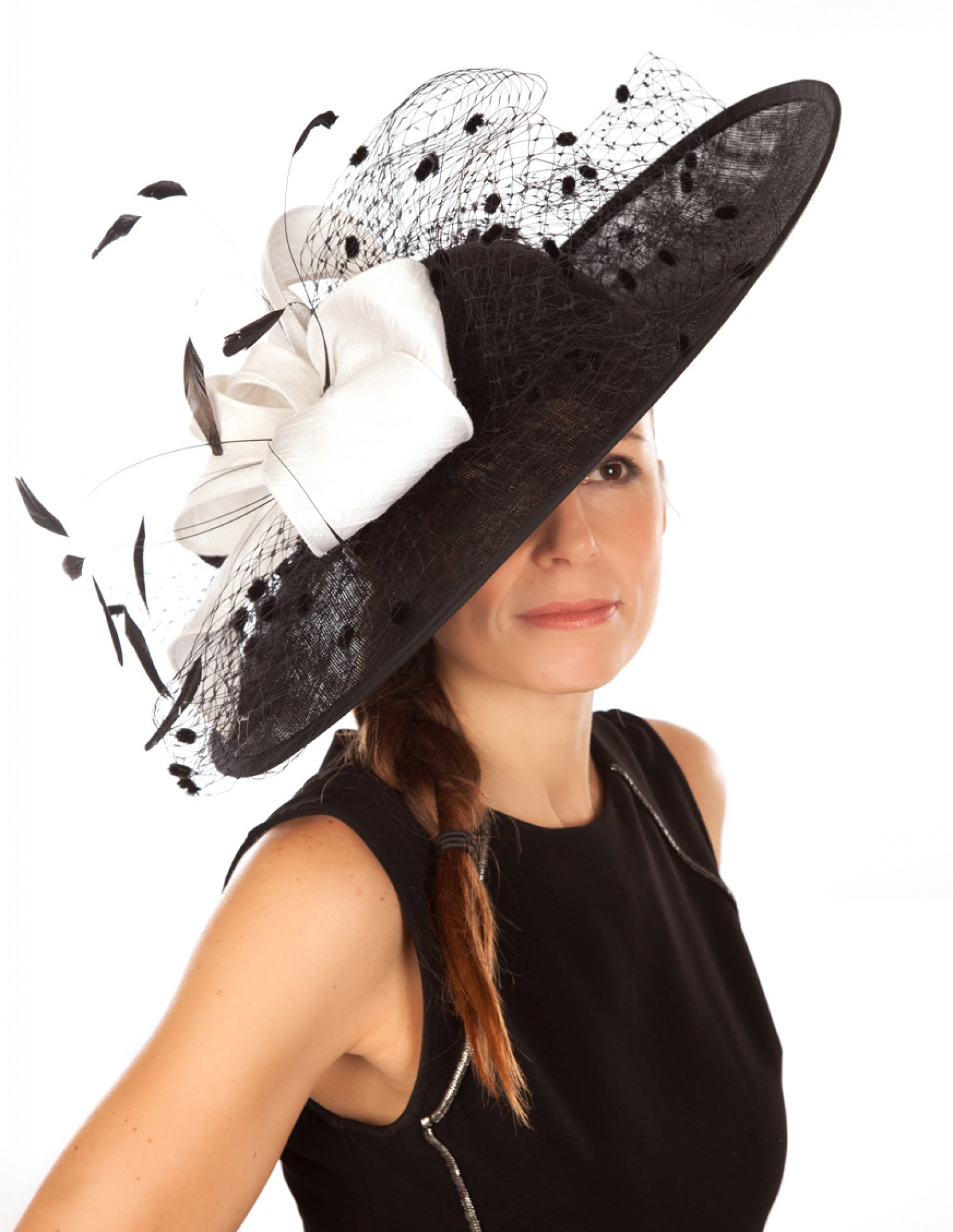 816ae82c61705 Snoxell Gwyther - Occasion Hat (Black/white) - Occasion Hats ...
